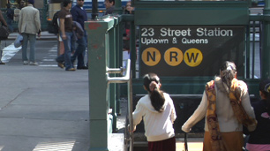 Photograph of Helvetica in use at a subway station