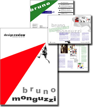 Magazine designed by Alissa Miller featuring Bruno Monguzzi