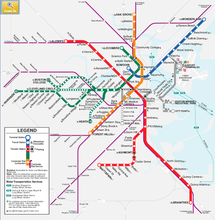 Picture of the MBTA system