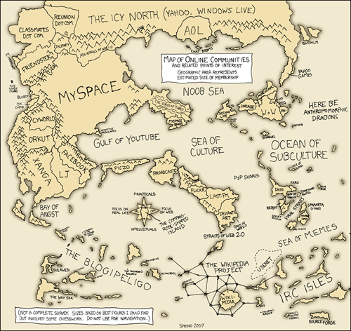 Map of Online Communities by xkcd