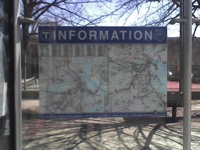 A photograph of T Information Sign with bad Kerning