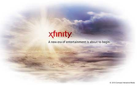 A screenshot of the Xfinity.com holding page